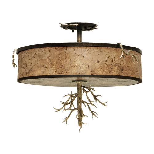Kalco Lighting Kalco Lighting Oakham Bronze Gold Semi-Flushmount Light 6613BZG