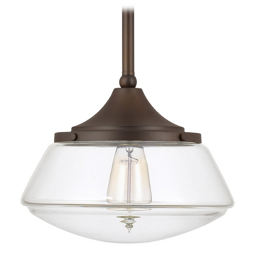 Capital Lighting Capital Lighting Burnished Bronze Pendant Light with Drum Shade 3531BB-134
