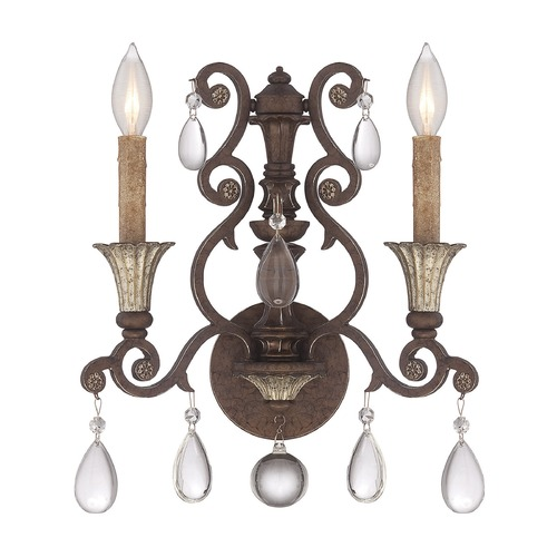 Savoy House Savoy House Lighting St. Laurence New Tortoise Shell W/silver Sconce 9-3013-2-8