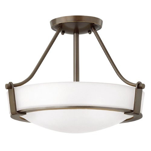 Hinkley Lighting Hinkley Lighting Hathaway Olde Bronze Semi-Flushmount Light 3220OB-WH