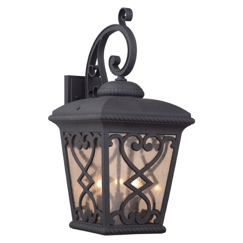 Quoizel Lighting Quoizel Fort Quinn Matte Black Outdoor Wall Light FQ8411MK