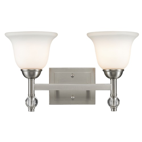 Golden Lighting Golden Lighting Waverly Pewter Bathroom Light 3500-BA2 PW