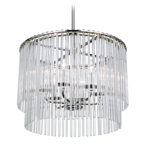Crystorama Lighting Crystorama Lighting Bleecker Chrome Pendant Light 396-CH