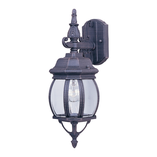 Maxim Lighting Outdoor Wall Light with Clear Glass in Rust Patina Finish 1030RP