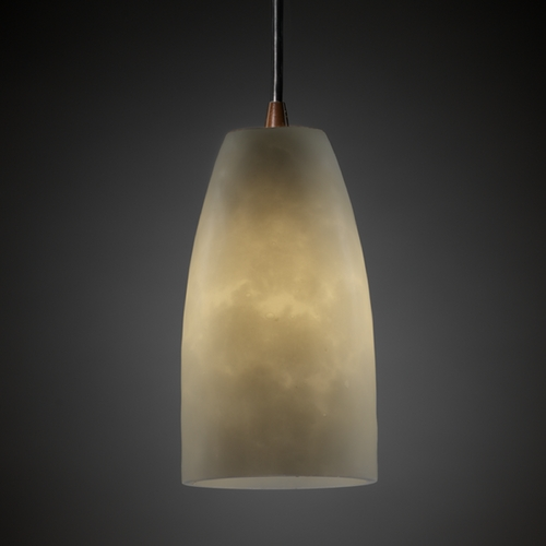 Justice Design Group Justice Design Group Clouds Collection Mini-Pendant Light CLD-8816-28-DBRZ