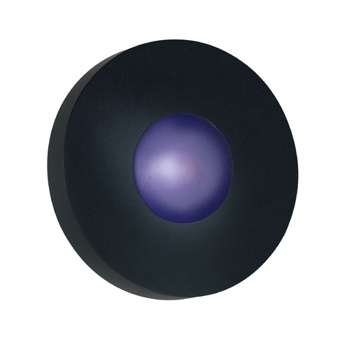 Kenroy Home Lighting Modern Outdoor Wall Light with White Glass in Black Finish 72824BL
