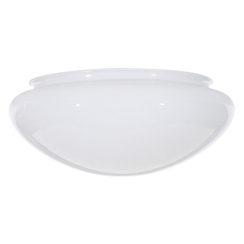 Satco Lighting White Bowl / Dome Glass Shade - 7-7/8-Inch Fitter Opening SC 50-330