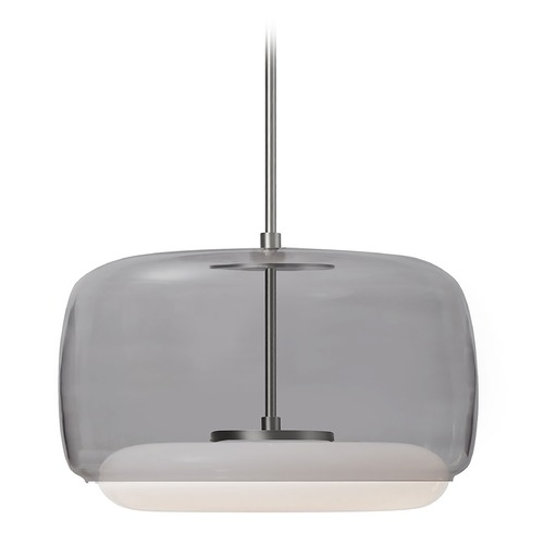 Kuzco Lighting Modern Brushed Nickel LED Pendant with Smoke Shade 3000K 1590LM PD70615-SM/BN
