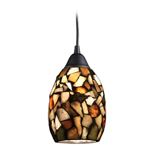 Elk Lighting Elk Lighting Trego Dark Rust LED Mini-Pendant Light with Bowl / Dome Shade 60018-1-LED