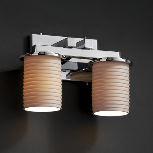 Justice Design Group Justice Design Group Limoges Collection Bathroom Light POR-8772-10-SAWT-CROM