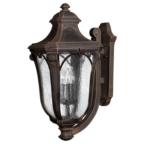 Hinkley Lighting Outdoor Wall Light with Clear Glass in Mocha Finish 1319MO-GU24