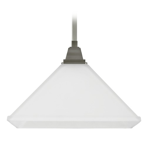 Sea Gull Lighting Sea Gull Lighting Denhelm Brushed Nickel Pendant Light with Square Shade 6550401-962