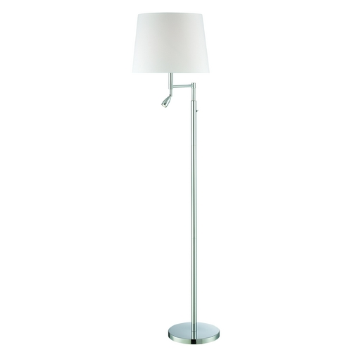 Lite Source Lighting Lite Source Lighting Felicity Chrome Swing Arm Lamp with Empire Shade LS-82475