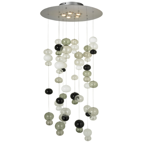 Oggetti Lighting Oggetti Lighting Bolle Satin Nickel Multi-Light Pendant 25-602