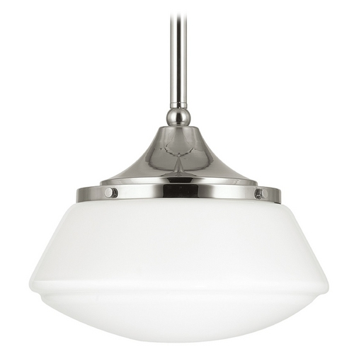 Capital Lighting Capital Lighting Polished Nickel Pendant Light with Drum Shade 3531PN-129