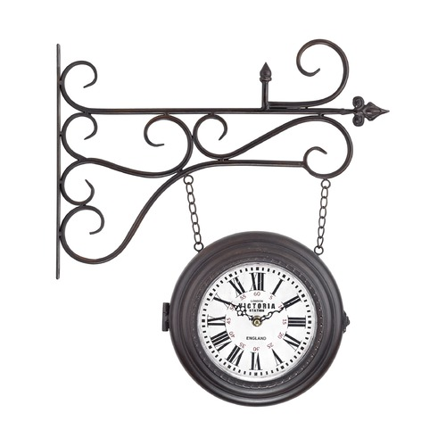Sterling Lighting Double Sided Curled Iron Wall Clock 171-015