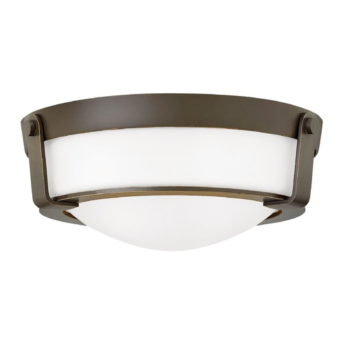 Hinkley Lighting Hinkley Lighting Hathaway Olde Bronze Flushmount Light 3223OB-WH