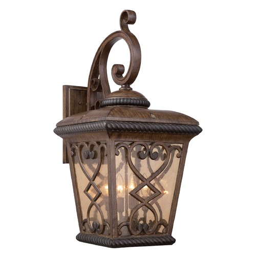 Quoizel Lighting Quoizel Fort Quinn Antique Brown Outdoor Wall Light FQ8414AW