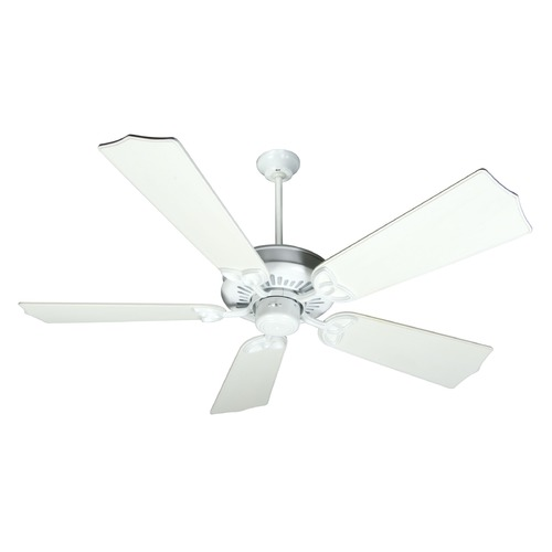 Craftmade Lighting Craftmade Lighting American Tradition White Ceiling Fan Without Light K10380