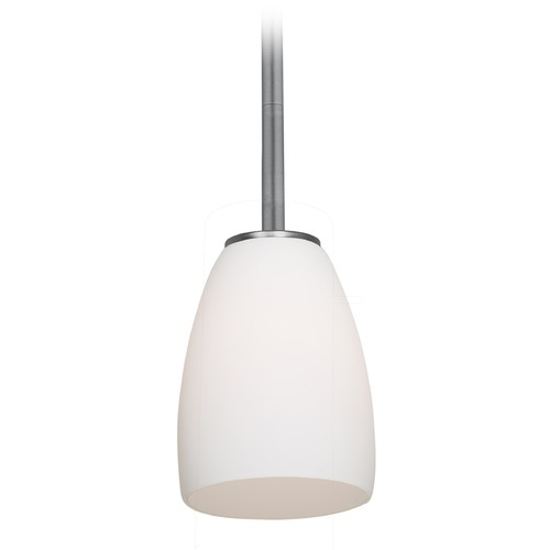 Access Lighting Access Lighting Sherry Brushed Steel Mini-Pendant Light with Bowl / Dome Shade 28069-4R-BS/OPL