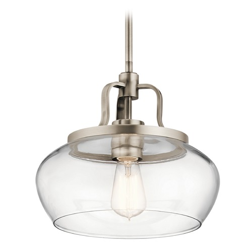 Kichler Lighting Transitional Pendant Light Pewter Davenport by Kichler Lighting 43903AP
