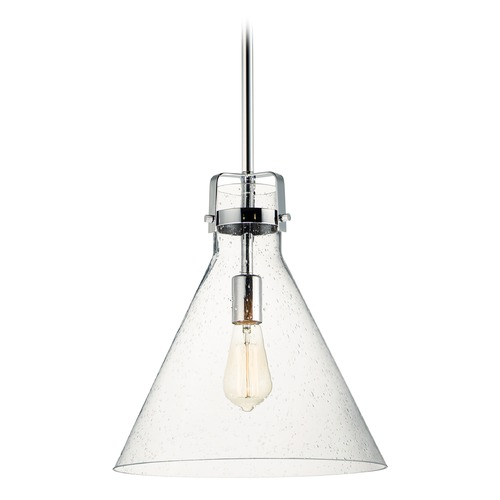 Maxim Lighting Maxim Lighting Seafarer Polished Chrome Pendant Light with Conical Shade 26119CDPC