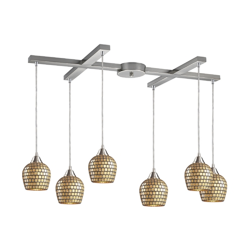 Elk Lighting Modern Multi-Light Pendant Light 6-Lights 528-6GLD