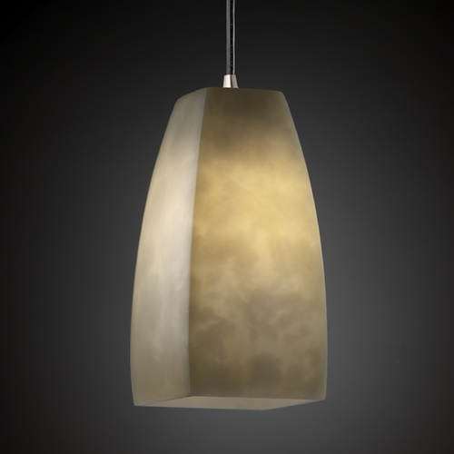 Justice Design Group Justice Design Group Clouds Collection Mini-Pendant Light CLD-8816-65-NCKL