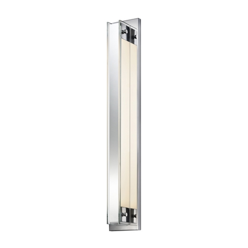 Sonneman Lighting Modern Sconce Wall Light with Clear Glass in Polished Chrome Finish 3010.01
