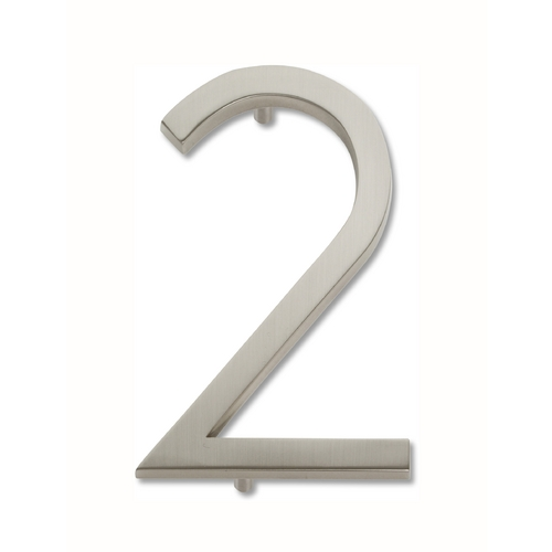 Atlas Homewares Brushed Nickel House Number AVN2-BRN