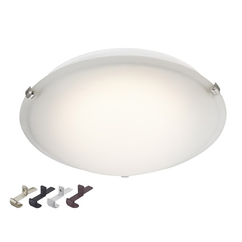 Design Classics Lighting LED Low Profile 16-Inch Flushmount Ceiling Light - 100 Watt Equivalent 2016-90-FR
