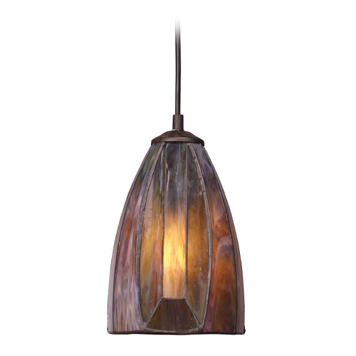 Elk Lighting Elk Lighting Dimensions Burnished Copper LED Mini-Pendant Light with Bowl / Dome Shade 70046-1-LED