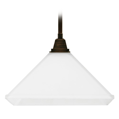 Sea Gull Lighting Sea Gull Lighting Denhelm Burnt Sienna Pendant Light with Square Shade 6550401-710