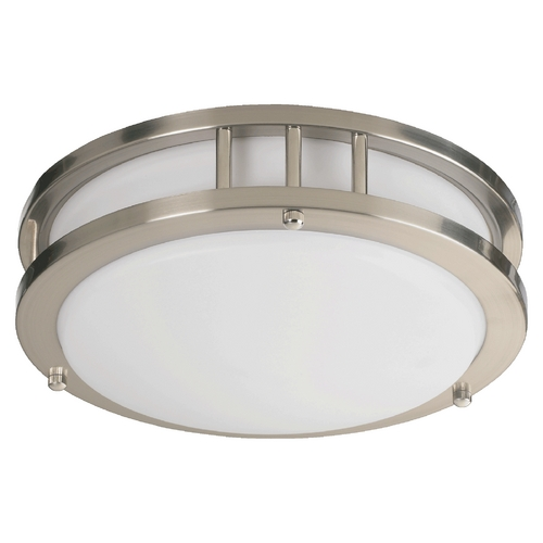 Quorum Lighting Quorum Lighting Satin Nickel Flushmount Light 87210-1-65