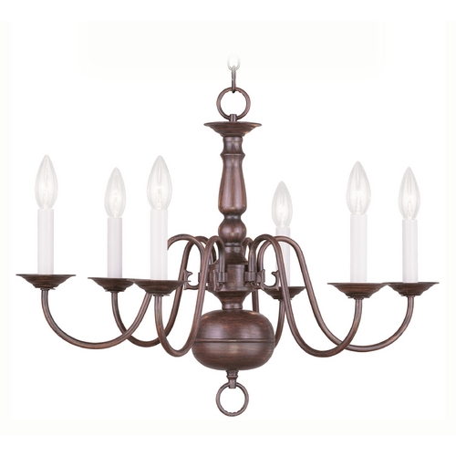 Livex Lighting Livex Lighting Williamsburg Imperial Bronze Chandelier 5006-58