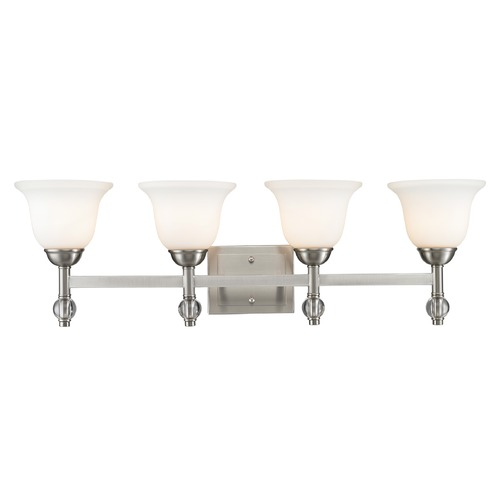 Golden Lighting Golden Lighting Waverly Pewter Bathroom Light 3500-BA4 PW