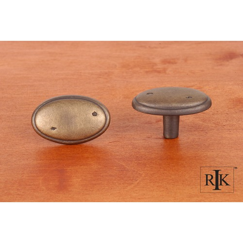 RK International Distressed Oval Knob with Ring Edge CK712AE