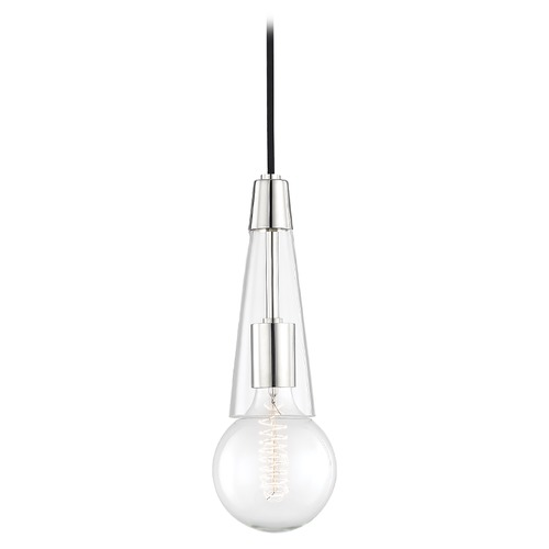 Mitzi by Hudson Valley Mid-Century Modern Pendant Light Polished Nickel Mitzi Joni by Hudson Valley H103701-PN