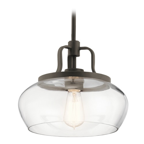 Kichler Lighting Transitional Pendant Light Olde Bronze Davenport by Kichler Lighting 43903OZ