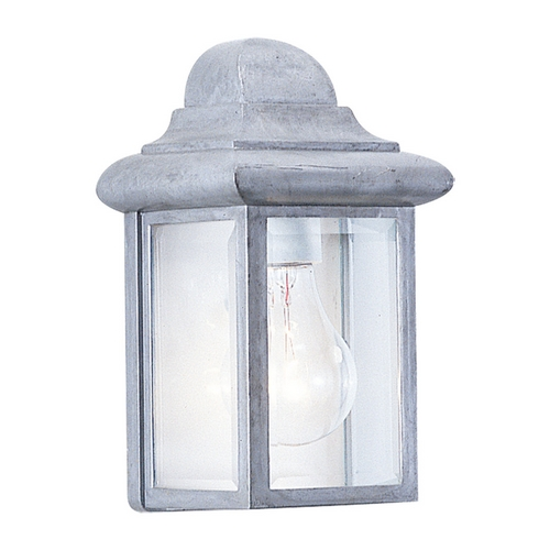 Sea Gull Lighting Outdoor Wall Light with Clear Glass in Pewter Finish 8588-155