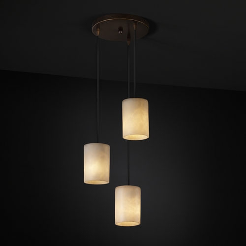 Justice Design Group Justice Design Group Clouds Collection Multi-Light Pendant CLD-8818-10-DBRZ