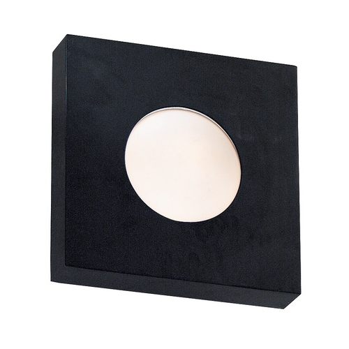 Kenroy Home Lighting Modern Outdoor Wall Light with White Glass in Black Finish 72825BL