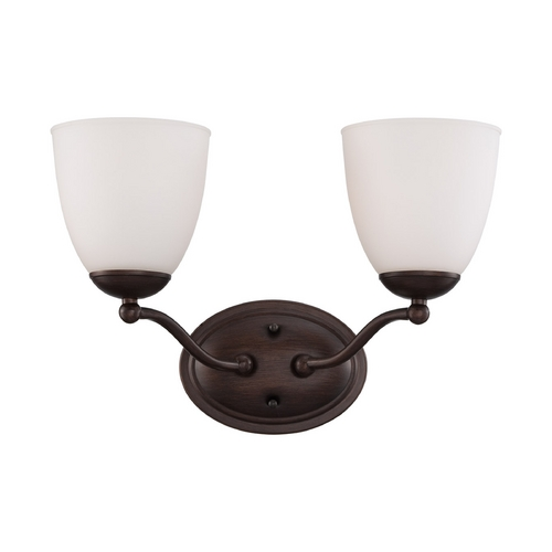 Nuvo Lighting Bathroom Light with White Glass in Prairie Bronze Finish 60/5132