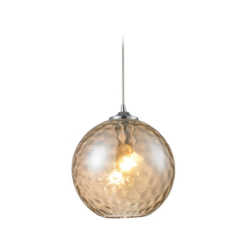 Elk Lighting Mini-Pendant Light with Textured Glass 31380/1CMP