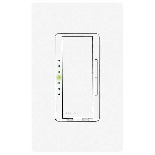 Lutron Dimmer Controls Magnetic Low-Voltage Dimmer Switch MALV-600H-WH