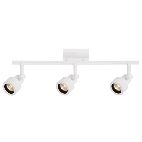 Recesso Lighting by Dolan Designs Track Light with 3 Stepped Cylinder Spot Lights - White - GU10 Base TR0203-WH