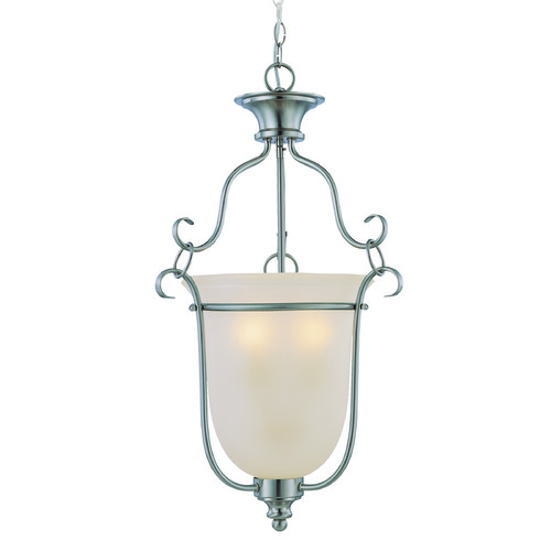 Craftmade Lighting Craftmade Linden Lane Satin Nickel Pendant Light with Bell Shade 26343-SN