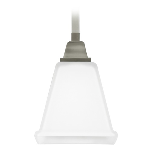Sea Gull Lighting Sea Gull Lighting Denhelm Brushed Nickel Mini-Pendant Light with Square Shade 6150401-962