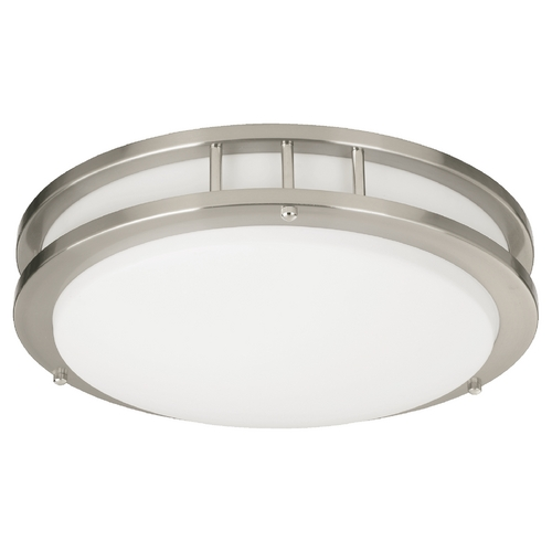 Quorum Lighting Quorum Lighting Satin Nickel Flushmount Light 87215-1-65