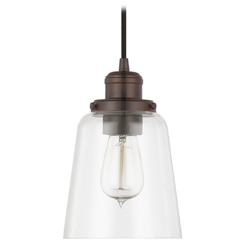 Capital Lighting Capital Lighting Burnished Bronze Mini-Pendant Light with Empire Shade 3718BB-135